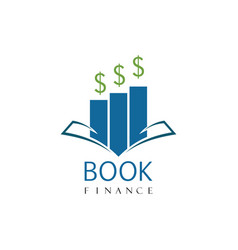 book finance logo vector image