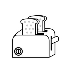 line toaster technology kitchen utensil object vector image