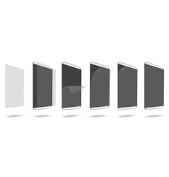 Set glue screen protector tablet pc vector