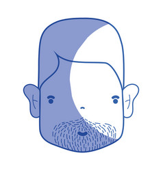 Silhouette man face with hairstyle and beard vector