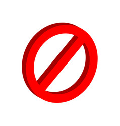 Stop sign symbol flat isometric icon or logo 3d vector