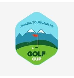 Vintage color golf championship badge vector image