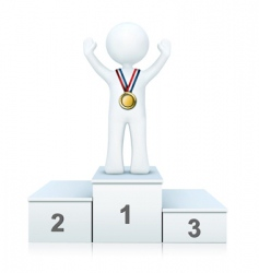 3d person on winning podium vector image vector image