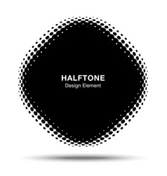 convex halftone distorted angle rounded square vector image