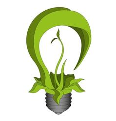 Green eco energy concept Green bulb vector image vector image