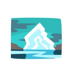iceberg and hills beautiful arctic landscape vector image