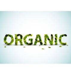 organic word vector image vector image