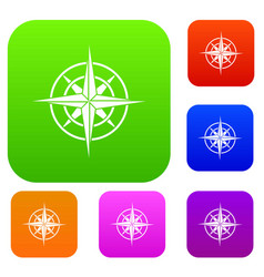 Ancient compass set collection vector