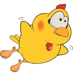Chicken cartoon vector image vector image