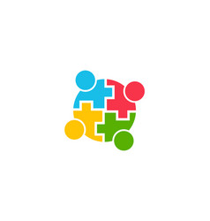 teamwork community people logo graphic vector image vector image
