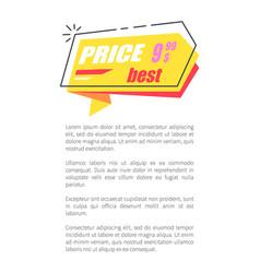 best price 999 arrow sticker discounts pointer vector image
