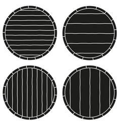 Black and white copyspace on barrel silhouette set vector