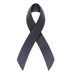 Black Awareness Ribbon vector