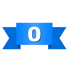 blue ribbon with 0 text vector image