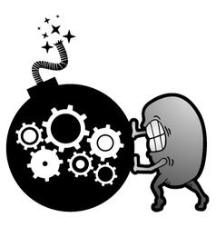 Bomb machine vector image