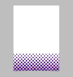 brochure template from purple diagonal square vector image