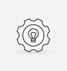 bulb in gear icon vector image