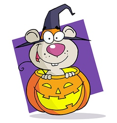 Cartoon Character Halloween Mouse vector