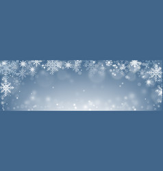christmas decoration with bokeh blurred snowflake vector image