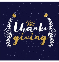 Circle of Thanks Blue vector image