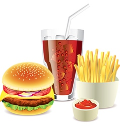 cola hamburger fri vector image vector image