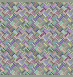 colorful geometric diagonal rectangle pattern vector image