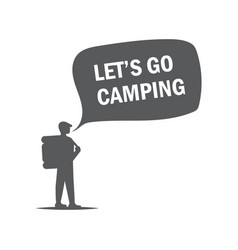 concept for a camping monochrome vector image