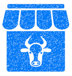 Cow farm icon grunge watermark vector