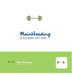 creative gym rod logo design flat color logo vector image