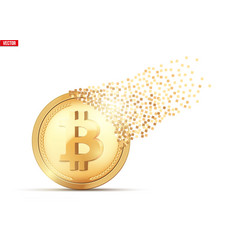 destruction of bitcoin vector image