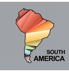 Digital south america map with abstract vector image