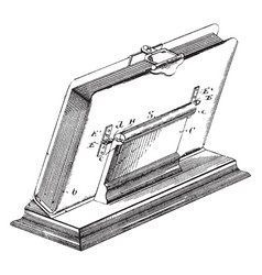 Easel or album are manufactured with clear vector
