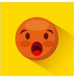 Emoticon face icon vector
