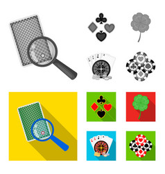 excitement casino game and other web icon in vector image