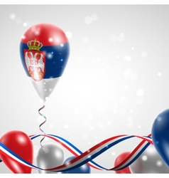 Flag of serbia on balloon vector