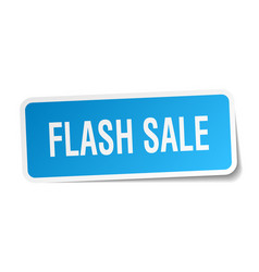Flash sale square sticker on white vector