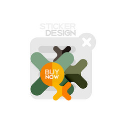 flat design cross shape geometric sticker icon vector image