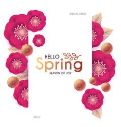flower paper cut elegant design template vector image