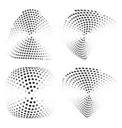 geometric halftone abstract elements set vector image