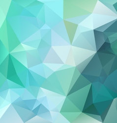 Green emerald polygonal triangular pattern vector