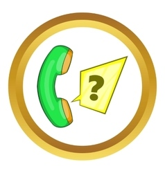 Green handset icon vector