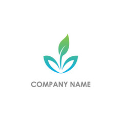 green leaf eco nature logo vector image