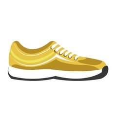 gym sneakers on side view graphic vector image