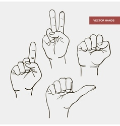 hand drawn image hands vector image