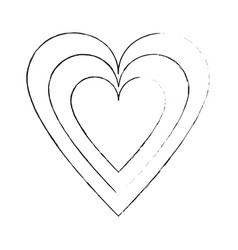 heart and love symbol vector image
