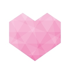 Heart polygonal love romantic passion icon vector