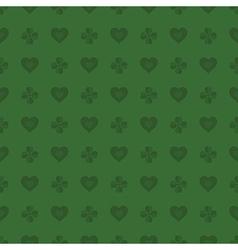 hearts and shamrocks pattern vector image