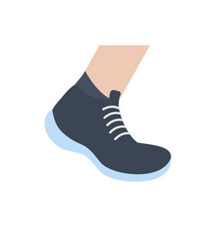 Isolated gym shoe sport icon flat design vector