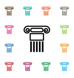 Isolated history icon pillar element can vector