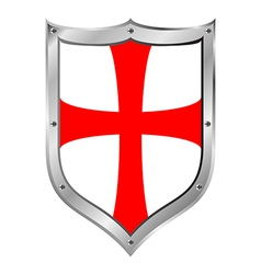 Knights Templar shield vector
